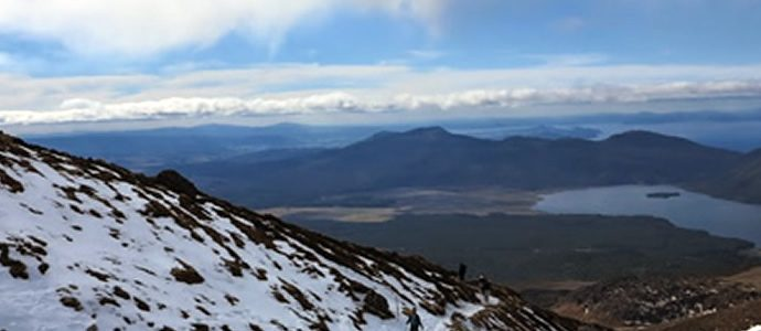Rescue of four trampers on Tongariro Alpine Crossing