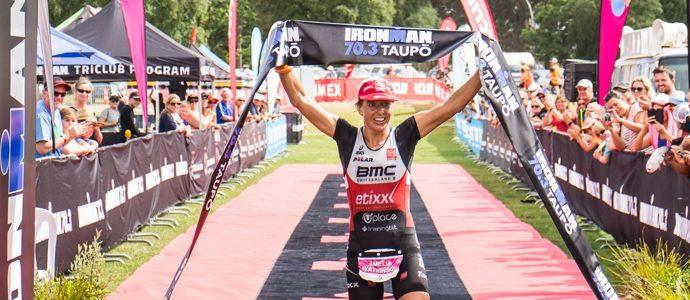 Ironman 70.3 Taupo Mike Phillips and Amelia Watkinson win