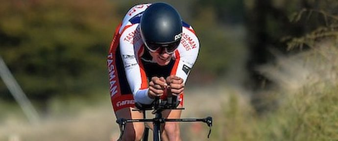 Track cyclist and mountain biker bag cycling wins on the road