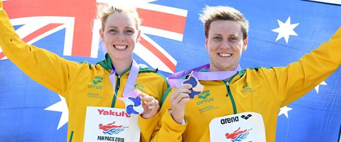 Noosa pair clinch silver and bronze in Pan Pacs 10km open water