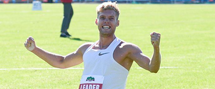 Mayer broke the decathlon world record