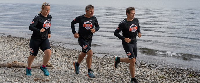 Richie McCaw and teammates prepare for Red Bull Defiance X4