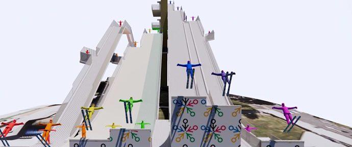 Freestyle ski-jumping facility