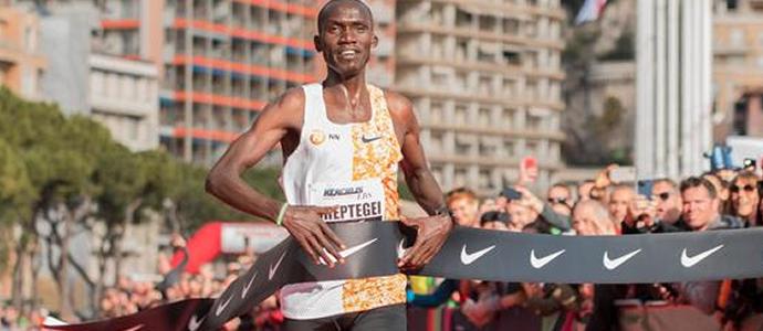 Cheptegei world record in the 5km
